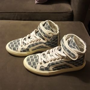 Pierre hardy sneakers hightops 38 jean and leather